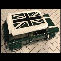 Union Jack Green / Black Roof Sticker for LEGO Mini