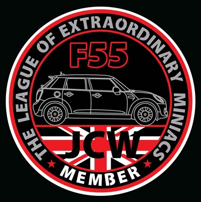 LXM GEN3 JCW F55 Decal or Grill Badge