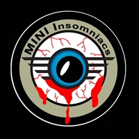 MINI INSOMNIACS Color Vinyl Decal or Grill Badge