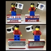 Custom LEGO MTTS 2018 Name Tag  W/ Minifig Flag Boy