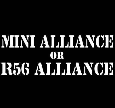 R56 or  MINI Alliance Decal