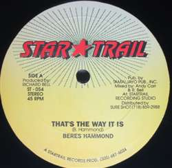 Beres Hammond / Jack Radics That's The Way It Is / Purify
