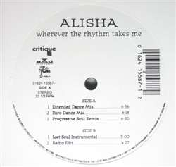 Alisha Wherever The Rhythm Takes Me