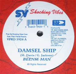 Beenie Man Damsel Ship / Nineties Trample