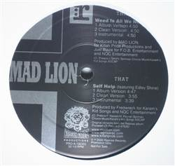 Mad Lion Weed Is All We Need / Self Help