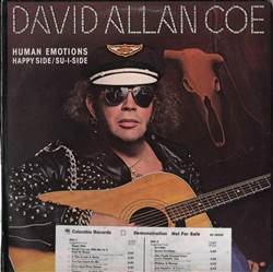 David Allan Coe Human Emotions Happy Side / Su-i-side (Promo Album)