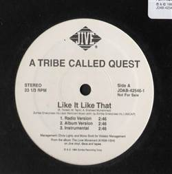 A Tribe Called Quest Like It Like That / Pad & Pen