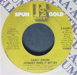 Carly Simon Nobody Does It Better / You Belong To Me