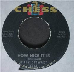 Billy Stewart How Nice It Is / No Girl