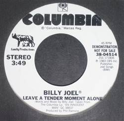Billy Joel Leave A Tender Moment Alone