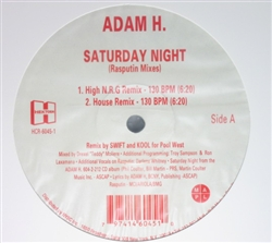 Adam H Saturday Night (Rasputin Mixes)
