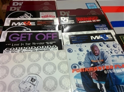 "Hip Hop/East - Lot of 35 12"" Singles Wax Pack Grab Bag"