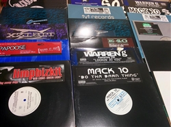 "Hip Hop/West - Lot of 15 12"" Singles Wax Pack Grab Bag"