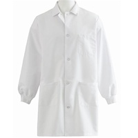 Medline Unisex Knit Cuff Staff Length Lab Coat, 87050QH
