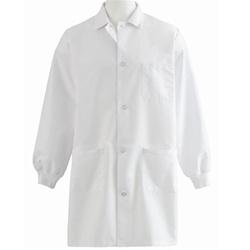Medline Unisex Knit Cuff Staff Length Lab Coat, 87050QH