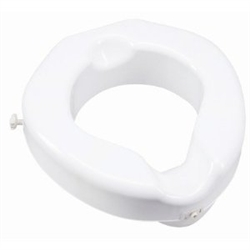 Carex Wide Opening Raised Toilet Seat
