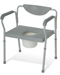Bariatric Commode with Back. Extra Wide Heavy Duty Commode with Back Rest G30216B