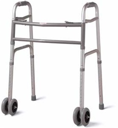 """Medline Deluxe Bariatric Walker with 5"""" Wheels, 500 Pound Capacity. MDS86410XWW"""