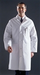 Medline premium lab coat is pre-shrunk and has knot button closures in front and on the back belt. This lab coat features a pencil divided left breast pocket, two lower pockets, a back vent, and side slash openings for easy access to pants pockets.
