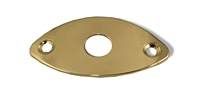 Jack Plate Oval Gold