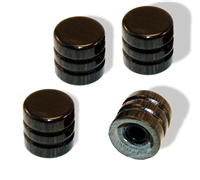 Knob push on 6mm Ebony cap set of 4
