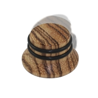 Knob push on 6mm Zebrawood cap