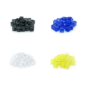 8mm Plastic Cubes: Set of 25