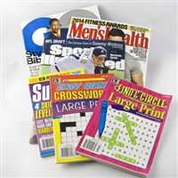 Men's magazine and puzzle books bundle