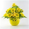 Smiley Bouquet in Vase