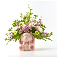 Baby Girl Arrangement in Ceramic Vase