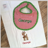 Holiday Burp & Bib Set
