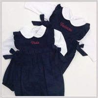 Bella Bliss Berkley Corduroy Overalls Navy