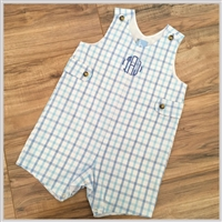 Bella Bliss Blue Check Shortall