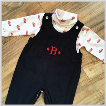 Bella Bliss Corduroy Overalls Navy