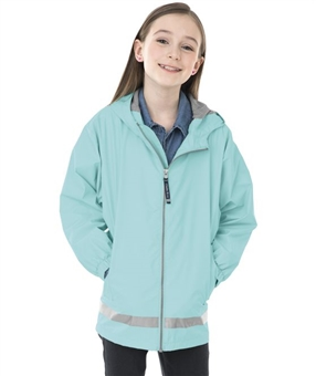 YOUTH New Englander Rain Jacket Aqua