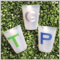 Single Letter Shatterproof Cups