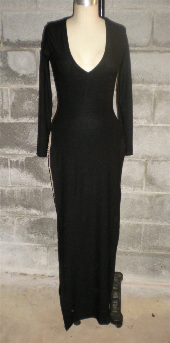 Double Side Slit V Neck Maxi Dress Also Plus Size