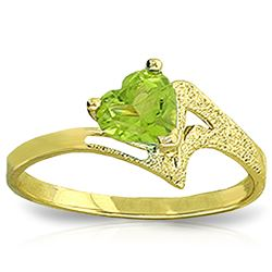 ALARRI 0.6 Carat 14K Solid Gold Ring Natural Peridot