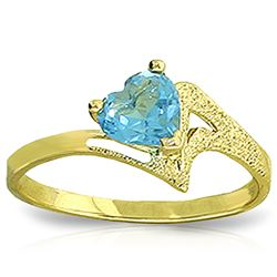 ALARRI 0.95 Carat 14K Solid Gold Ring Natural Blue Topaz