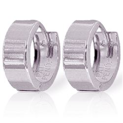 ALARRI 14K Solid White Gold Love Those Huggies Earrings