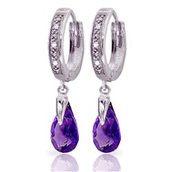 ALARRI 2.53 Carat 14K Solid White Gold Room View Amethyst Diamond Earrings