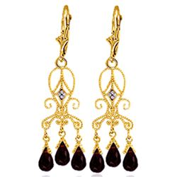 ALARRI 6.31 CTW 14K Solid Gold Sensation Garnet Earrings