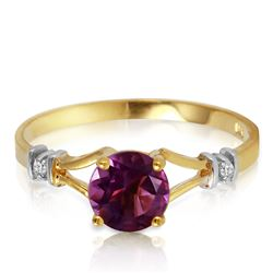 ALARRI 0.92 Carat 14K Solid Gold Kept Secrets Amethyst Diamond Ring