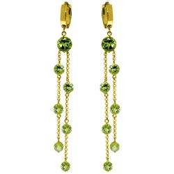 ALARRI 9.02 CTW 14K Solid Gold Chandelier Earrings Peridot