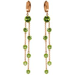 ALARRI 14K Solid Rose Gold Chandelier Earrings w/ Peridots