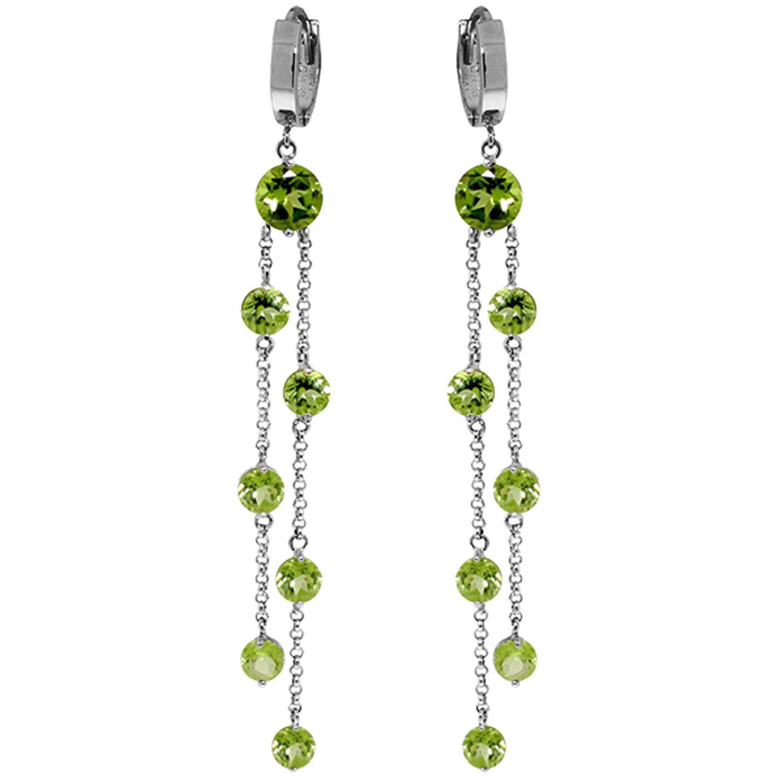 Alarri 9 02 Carat 14k Solid White Gold Chandelier Earrings Peridot