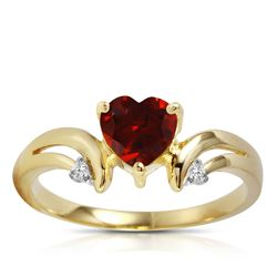 ALARRI 1.26 CTW 14K Solid Gold Ring Diamond Garnet