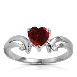 ALARRI 1.26 Carat 14K Solid White Gold Ring Diamond Garnet