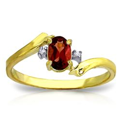 ALARRI 0.46 CTW 14K Solid Gold Shatter Me Night Garnet Diamond Ring