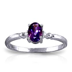 ALARRI 0.46 Carat 14K Solid White Gold That Avails Much Amethyst Diamond Ring